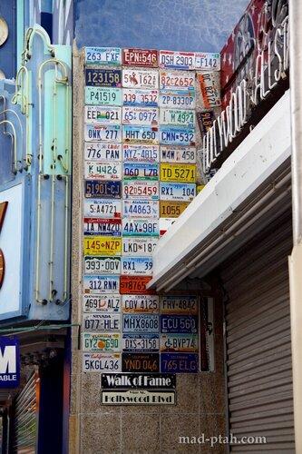 сша, лос-анджелес, коллекция номерных знаков