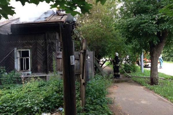 Сгорел дом на ул. Блюхера, 53