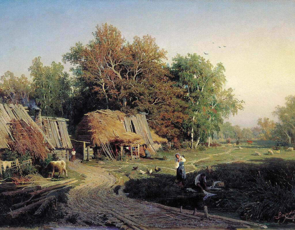 1013.Vasil'ev.Fedor.(1850-1873).Derevnia.1869.holst.maslo.61h83.sm.jpg