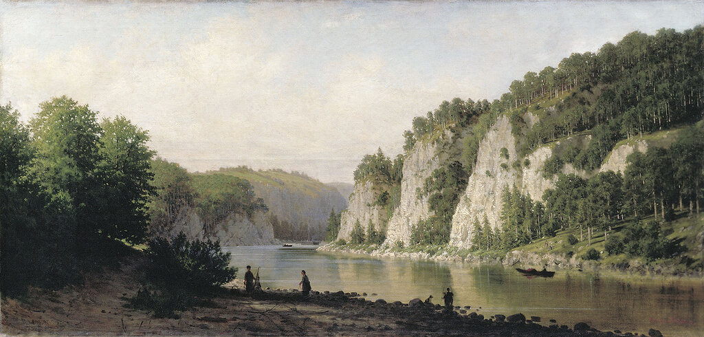 1062.Vereshagin.Petr.Kamen'.Pisannyiy.na.reke.Chusovoiy.1877.holst.maslo.72h150.sm.jpg