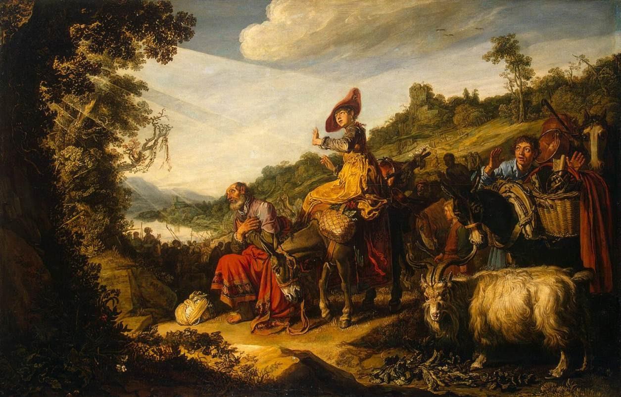 Питер Ластман. Авраам на пути в Ханаанскую землю. 1614