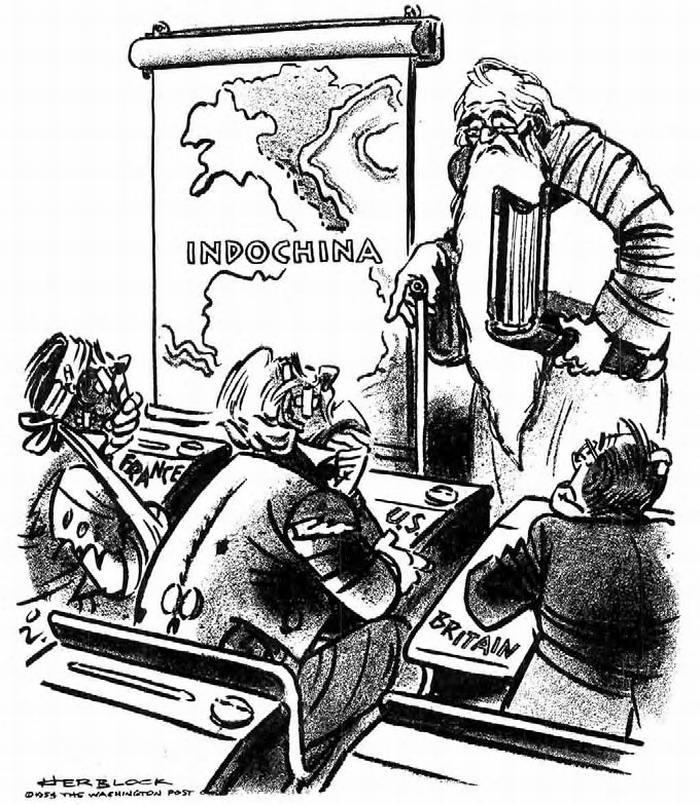 Индокитай: Итак, ученики (США, Франция, Великобритания), что нового мы узнали? (Herblock)