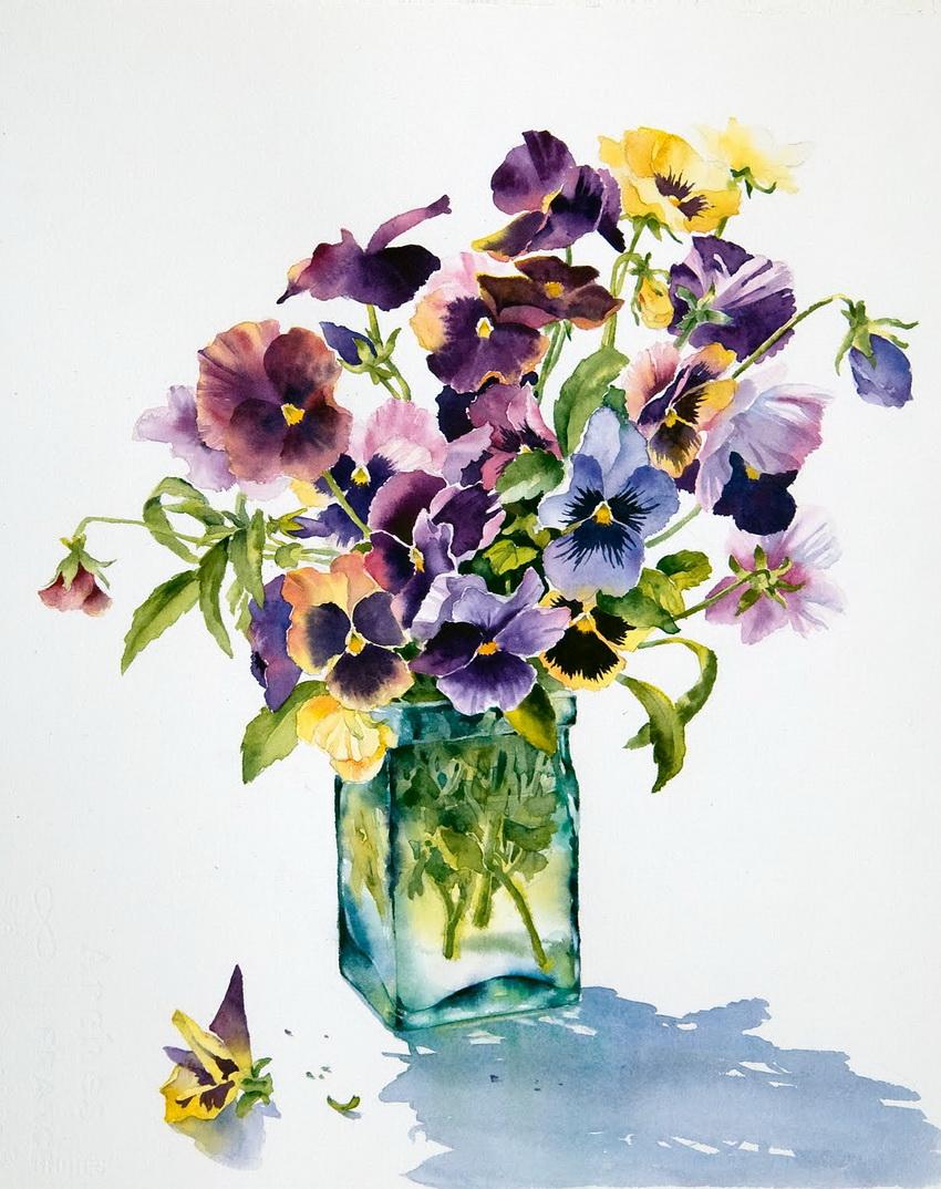 Ann Mortimer Акварельные цветы