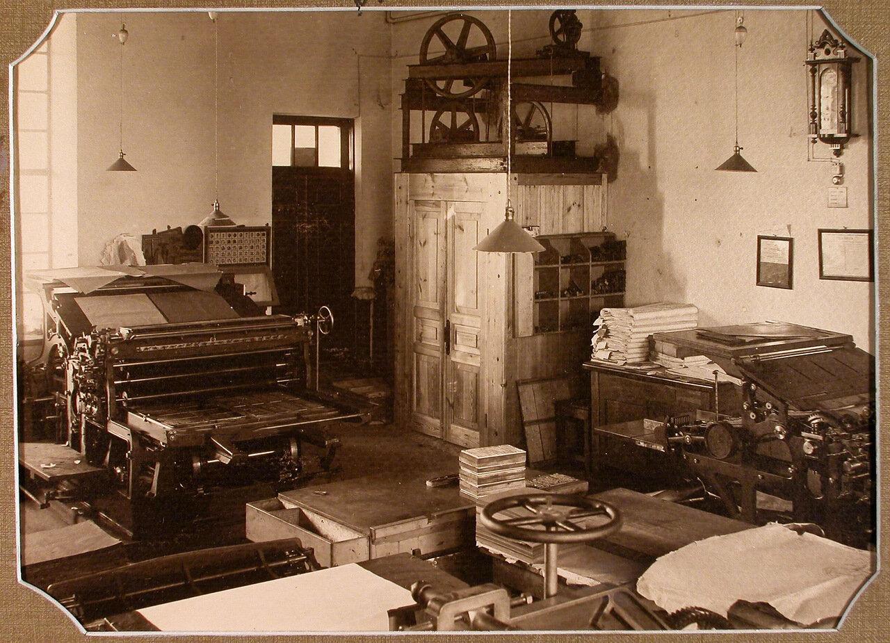 Вид части помещения электрической типографии