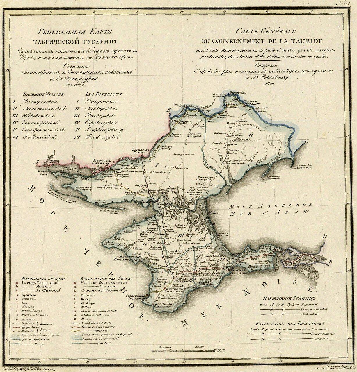 25. Таврическая губерния. 1822