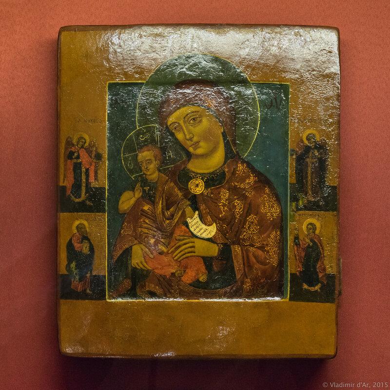 Икона Богоматерь с Младенцем. Богоматерь Консолационе. Палестина. XVIII в.