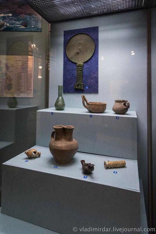 Выставка Золото потомков Геракла, Народы Прикубанья в VI в. до н.э. – III в. н.э. Малый зал выставки.