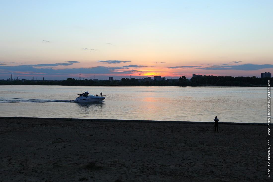 набережная Казанки фото на закате