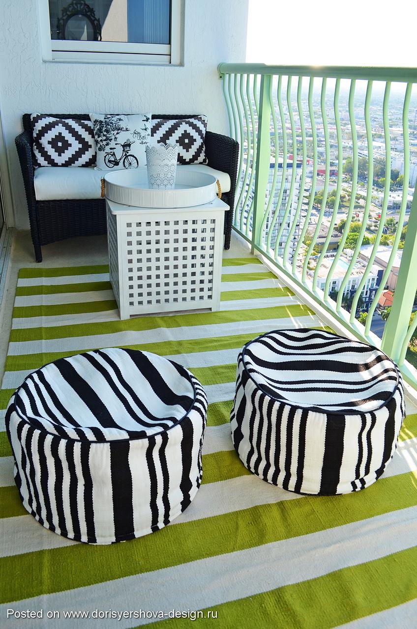 маленький балкон, летний балкон, декор открытого балкона
