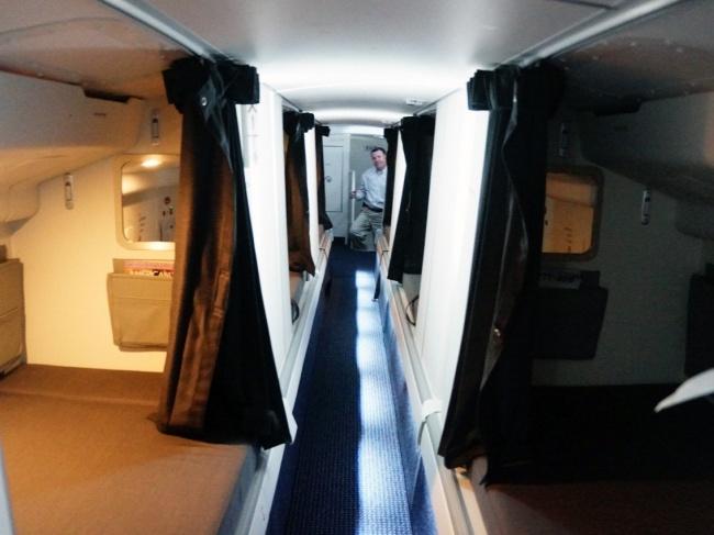 © Chris Sloan/airwaysnews.com  НаBoeing 747 спальные места находятся друг над другом иснабже