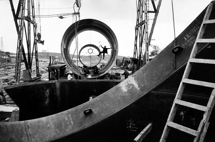 Турция, 1955 год. Строительство Сейханской дамбы в провинции Адана.