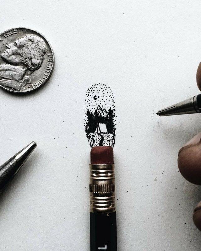 Миниатюрные карандашные рисунки, созданные Кристианом Уотсоном