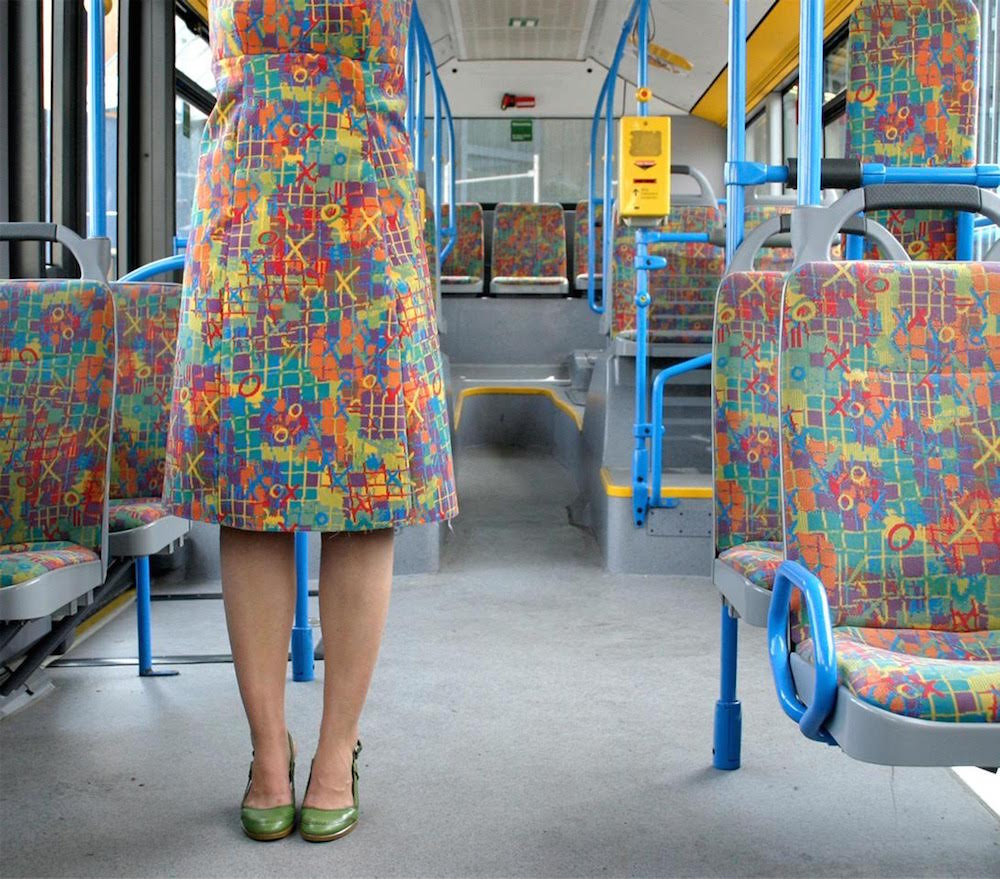 Outfits Sourced From German Public Transportation Fabric by Menja Stevenson (6 pics)