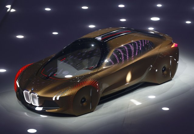 """BMW presents the """"Vision Next 100"""" concept car during centenary celebrations at the Olympic Hall in"""