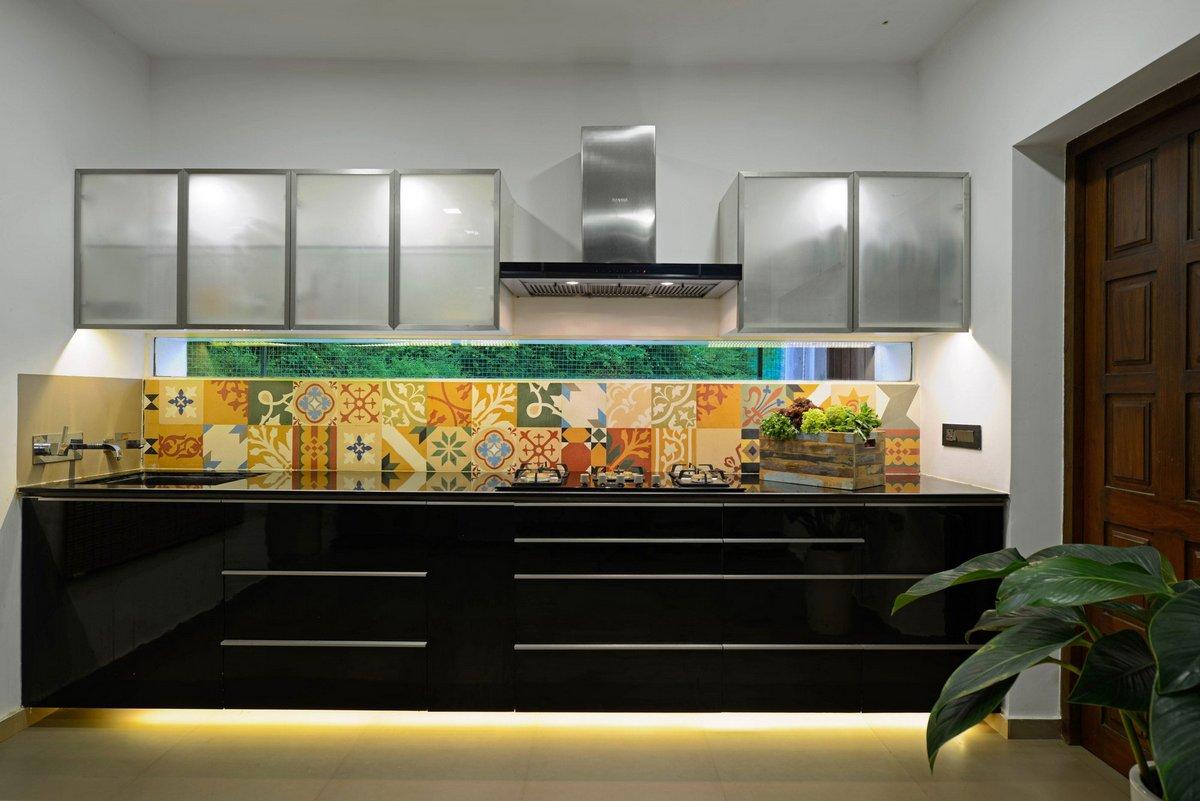 Необычная плитка на кухне