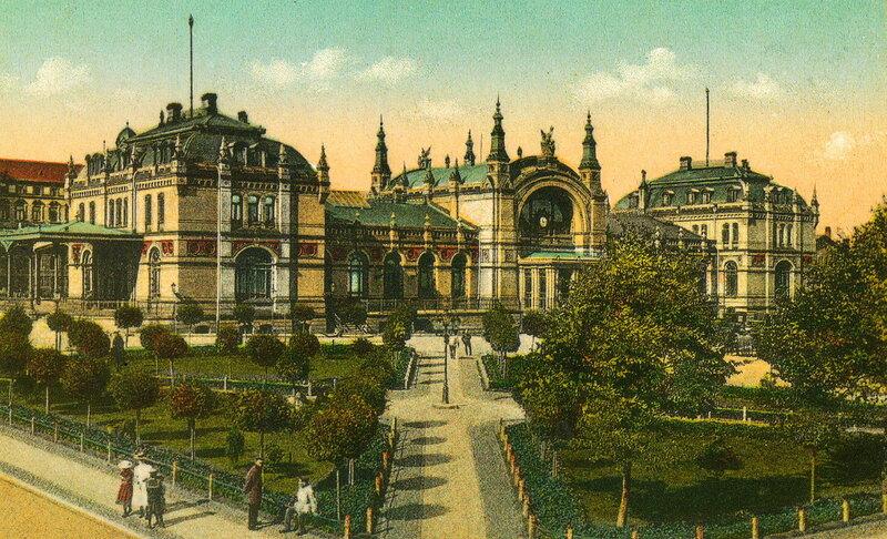 Железнодорожный вокзал Шверина в 1910 году