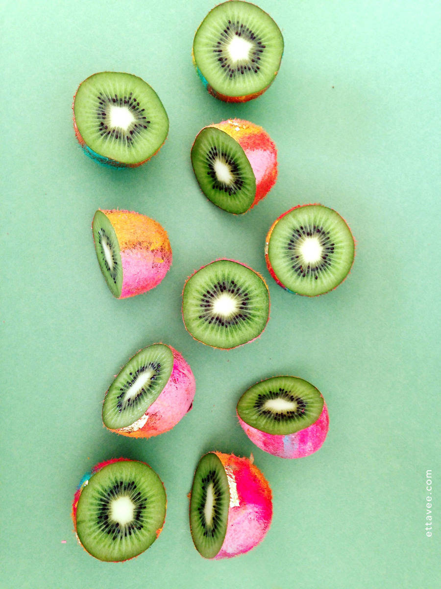 Series of Colorful Illustrative Exotic Fruits
