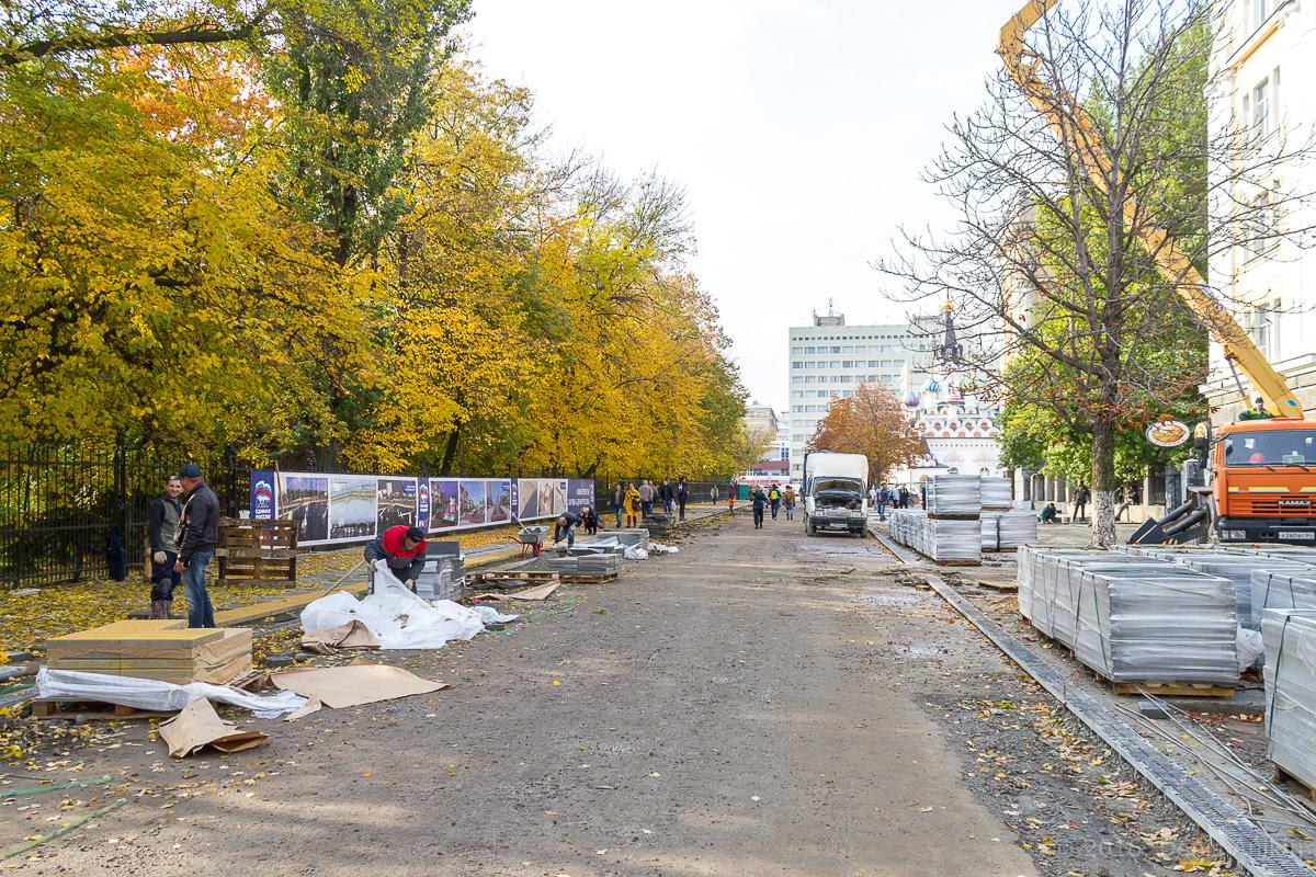 Строительство пешеходной зоны Саратов фото 13