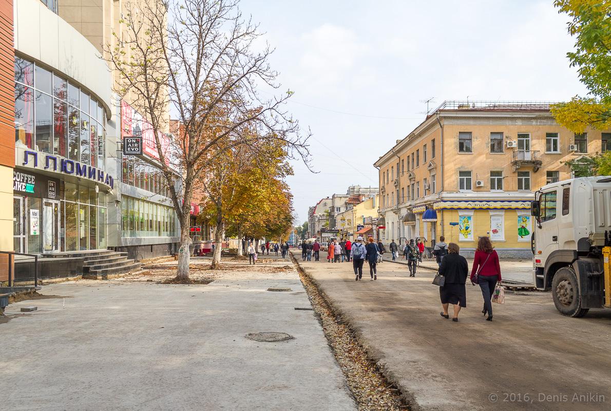 Строительство пешеходной зоны Саратов фото 15