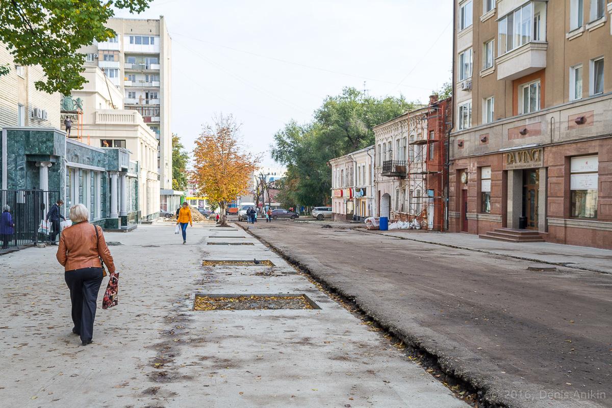 Строительство пешеходной зоны Саратов фото 19