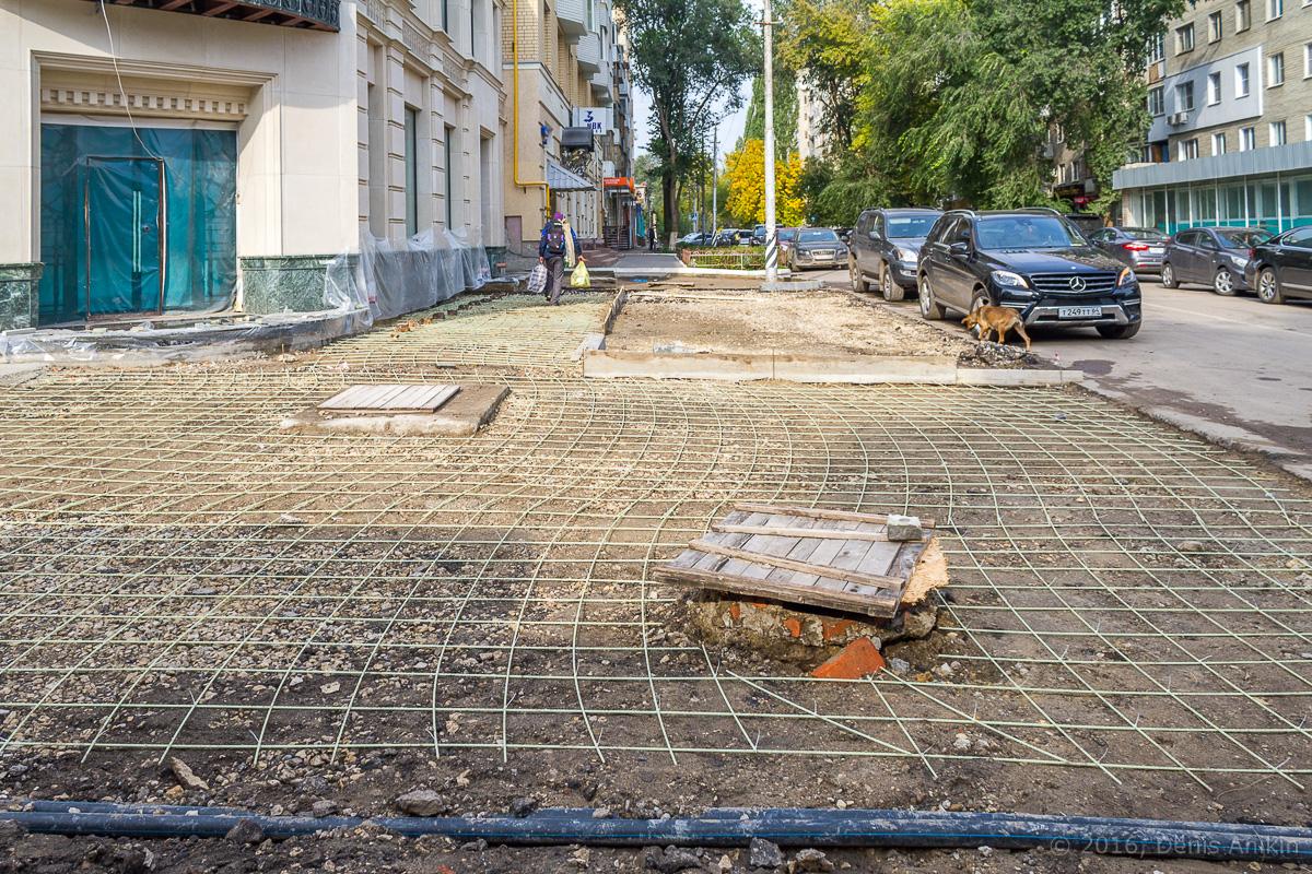Строительство пешеходной зоны Саратов фото 21