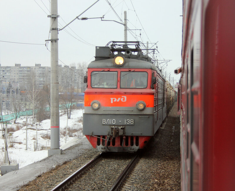 ВЛ10-138 на станции Павловский посад из смотрового окна Диагностического комплекса Интеграл