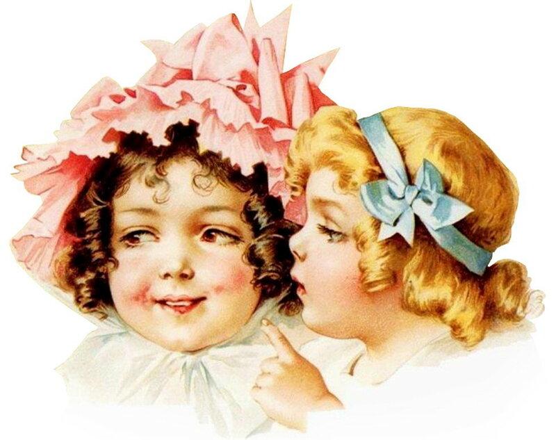 Днем, открытка 2 девочки