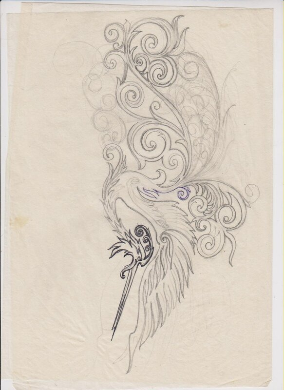 рисунок на ноже эскизы: