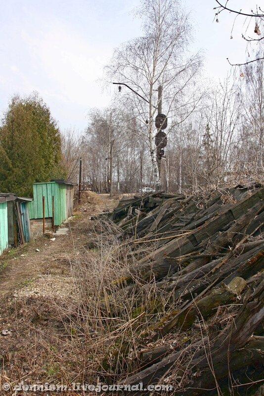 Разобранная железнодорожная линия Ивантеевка-грузовая - Детская