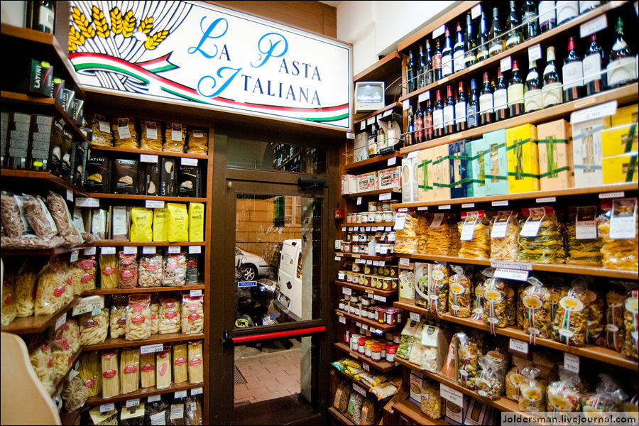 магазин еды в Риме