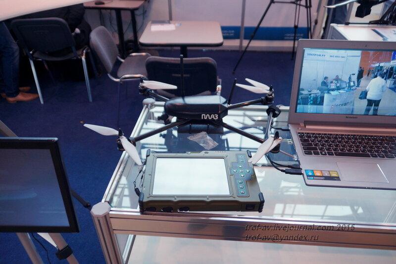 Беспилотник производства ПЛАЗ и защищенный планшет, Выставка Комплексная безопасность 2015, Москва