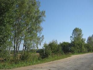 Поворот к деревне Чёт.