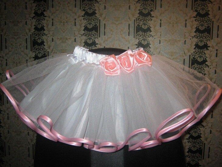Юбка для девочки своими руками из вуали 82