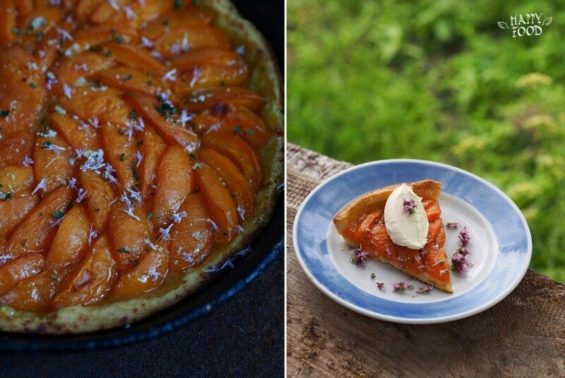 Тарт с абрикосами и  розмарином