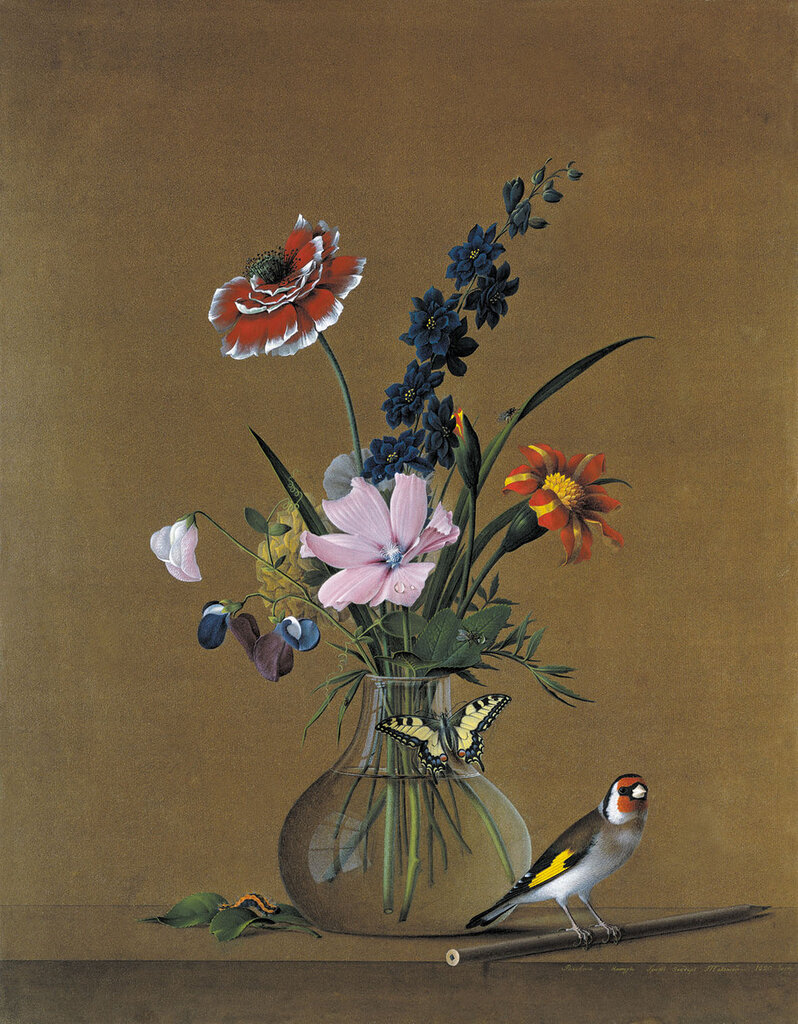 0985.Tolstoiy.Fedor.Petrovich.Buket.cvetov.babochka.i.ptichka.1820.jpg