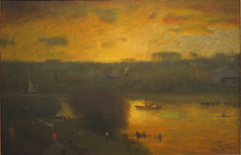 Sunset on the Passaic, oil on canvas, 1891