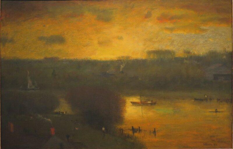 Sunset on the Passaic, oil on canvas, 1891