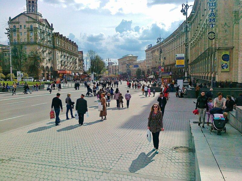 Майдан Незалежности в выходной день