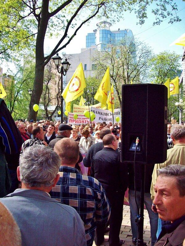 Участники митинга чернобыльцев