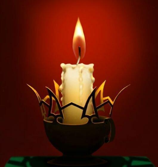 """Схема вышивки  """"Свет свечи """": схема."""