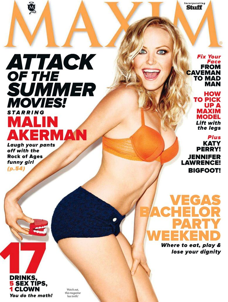 Malin Akerman / Малин Акерман в журнале Maxim USA, май 2012 / фотограф Ture Lillegraven