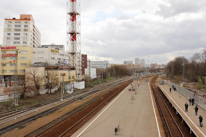 Станция Тушино, вид на Рижский вокзал