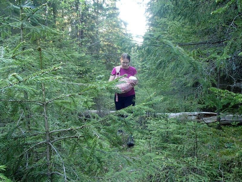 слинг с кольцами для ребенка в полтора месяца в лесу