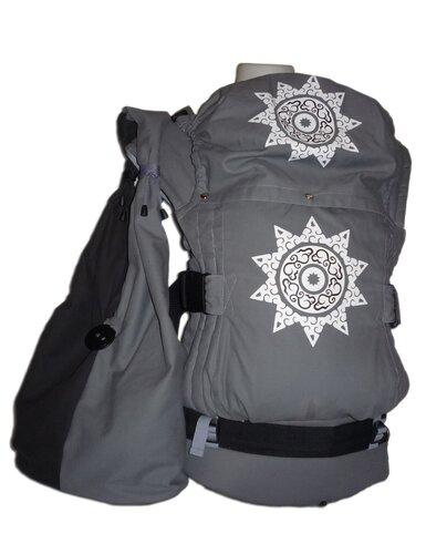 """Рюкзак с принтом  """"Стожары """" молочно-алый + сумка через плечо."""