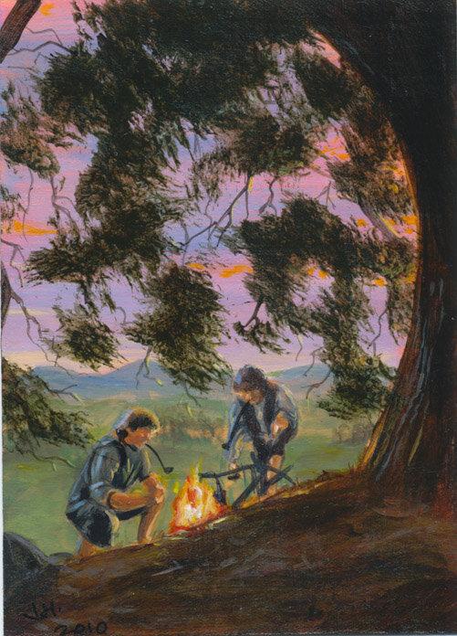 Sam and Frodo - jedipencil