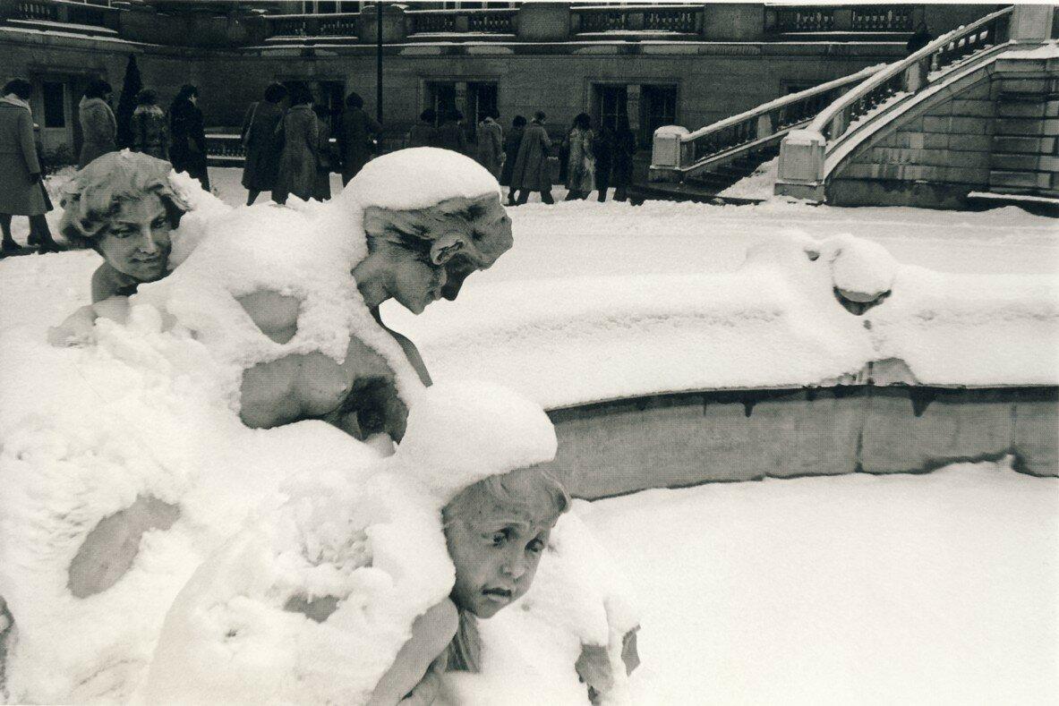 1978. Ангелы в снегу, сад Тюильри.