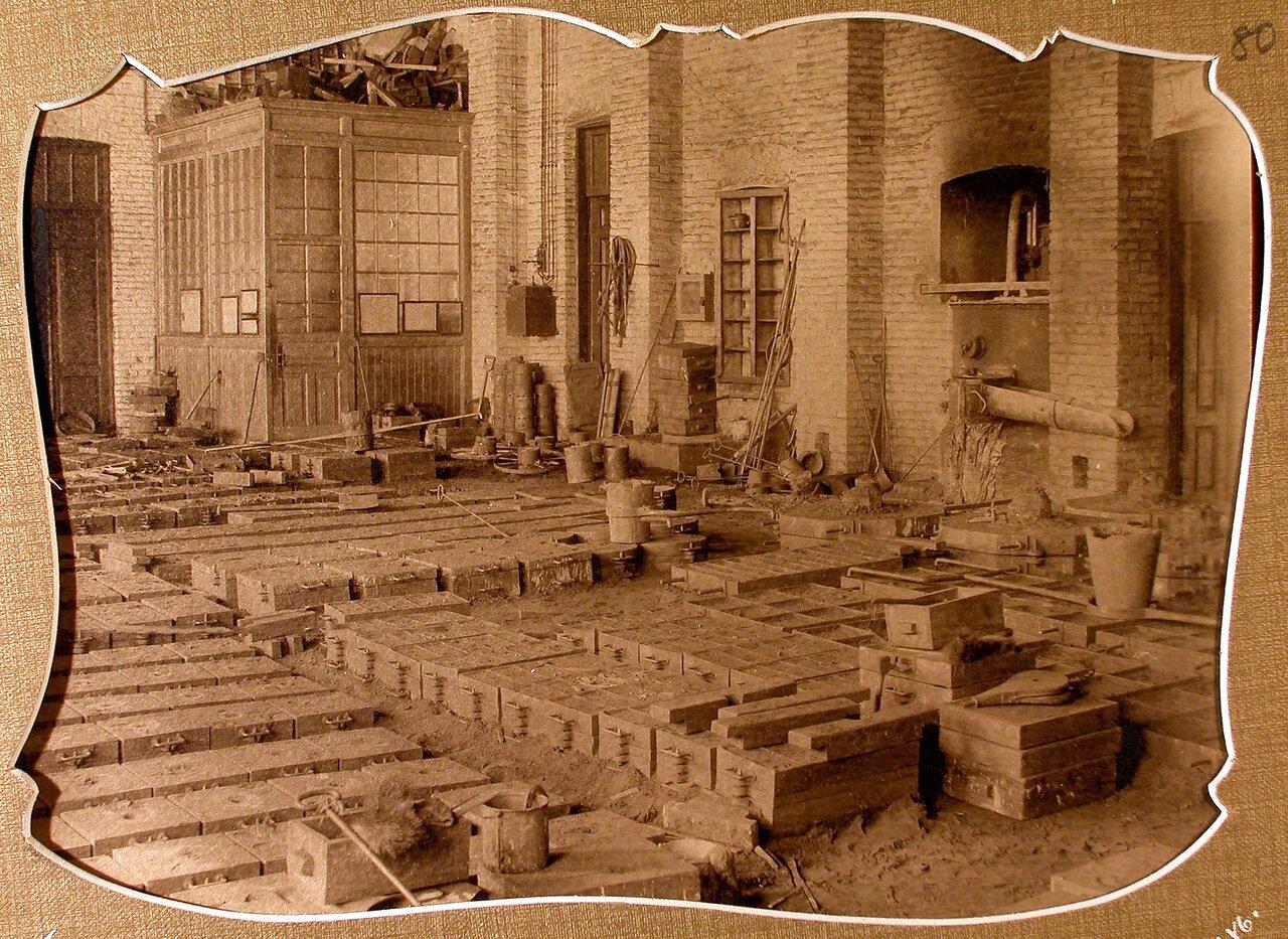 Вид части строящегося литейного цеха Мариинского машиностроительного завода