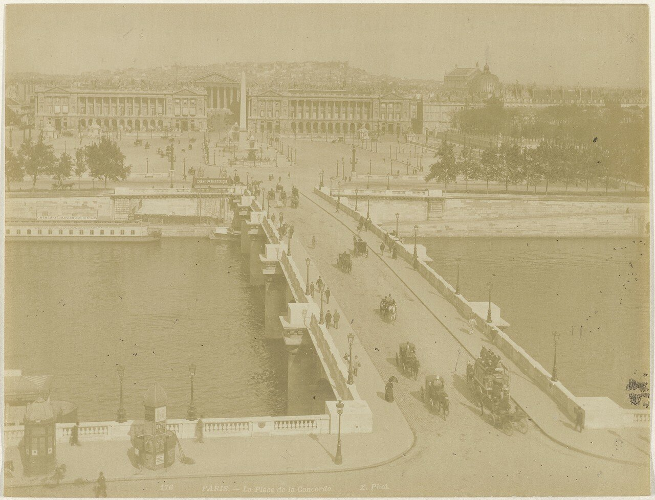 1870-е. Вид на Сену и площадь Согласия