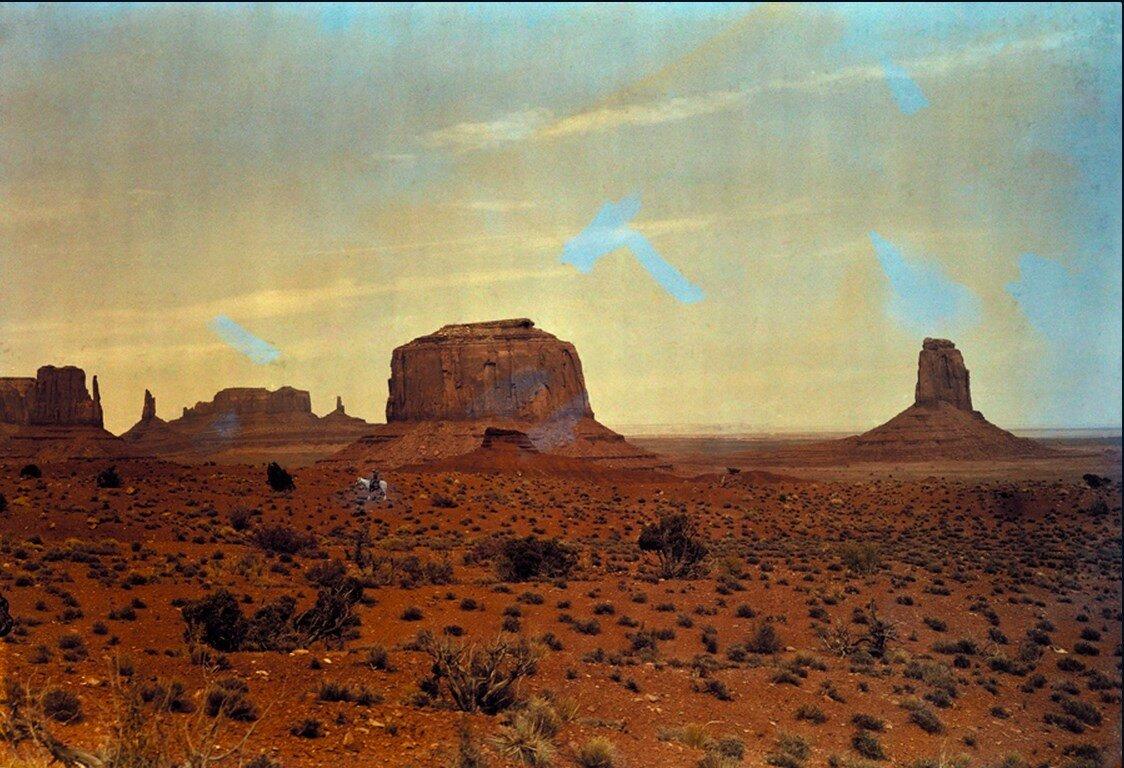 1925. Вид Долины памятников на границе Юты и Аризоны