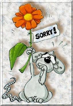 Извиняюсь! Мышка с цветком